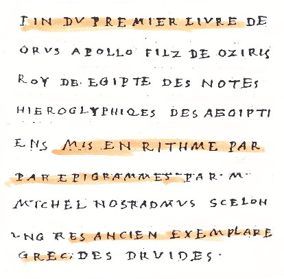 Manuscrit Orus